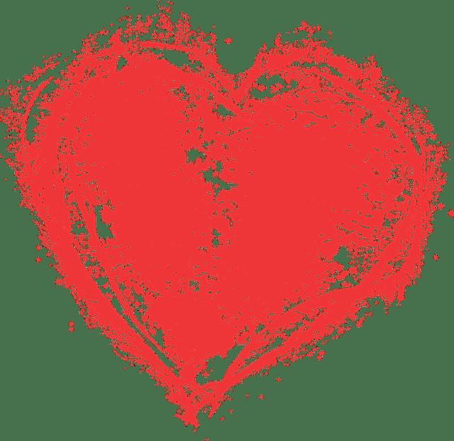 Heart Paint Splatter Grunge Free Vector Graphic On Pixabay