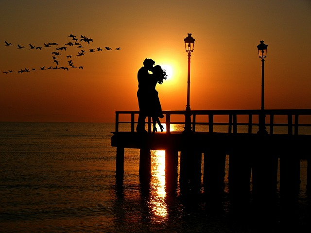 Free Photo Lovers Sunset Romance Free Image On