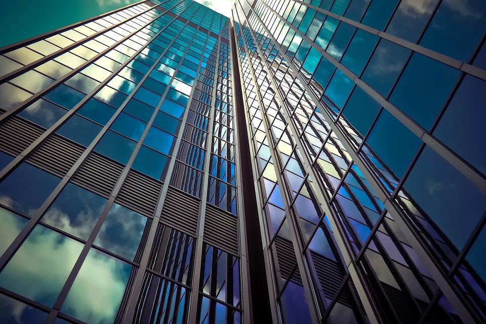 アーキテクチャ, 超高層ビル, ガラスのファサード, モダン, ファサード, 空, 建物, デュッセルドルフ