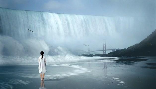 Cachoeira, Onda, Fantástico, Mulher, Natureza, Água