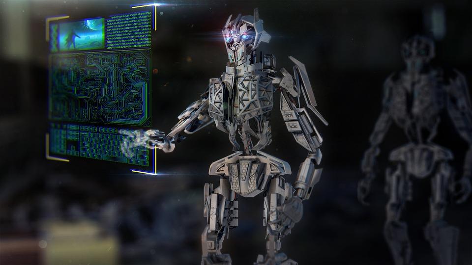 ロボット, メカ, マシン, 技術, 都市, Ai, 人工知能, 未来の, フィクション, 科学, 未来
