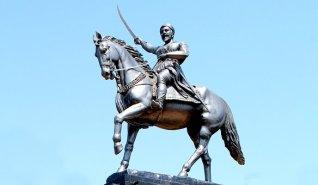 Statue, Maharaj, Horse, Maratha