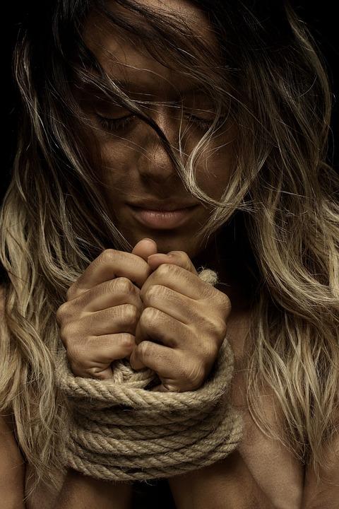 Model, Rope, Painted, Beautiful, Bondage, Naked