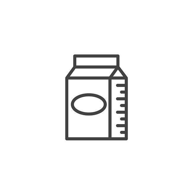 Milk Icon Food 183 Free Vector Graphic On Pixabay
