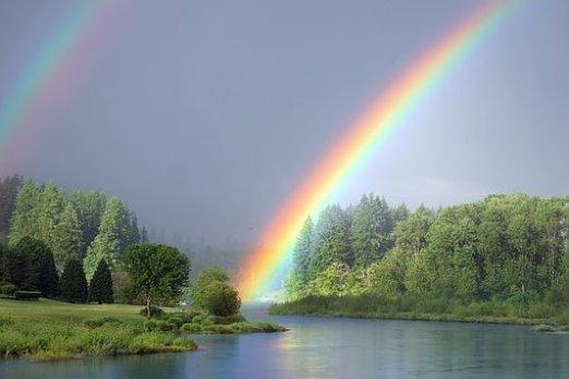 Arcobaleno, Fiume, Natura, Panorama