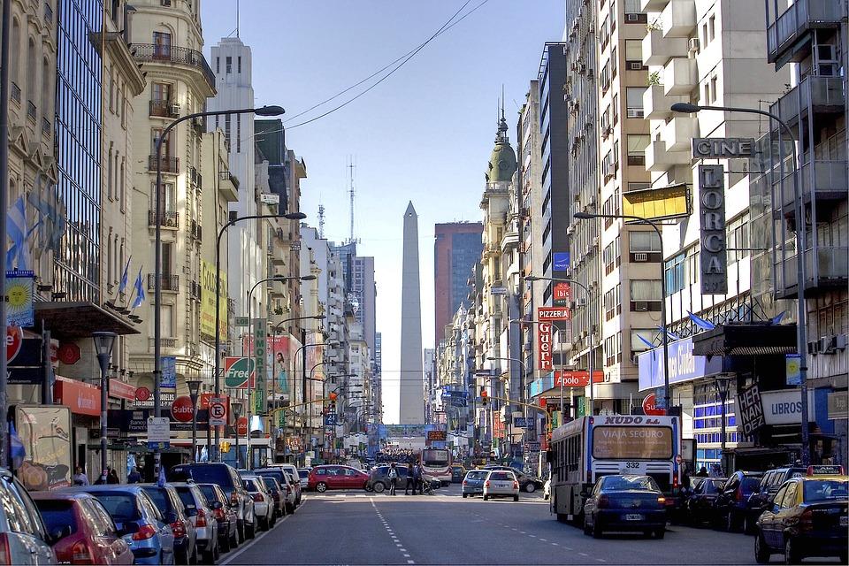 Buenos Aires, Argentina, Obelisco, Avenida Corrientes