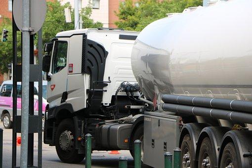 Tank Car, Petrol, Truck, Tow