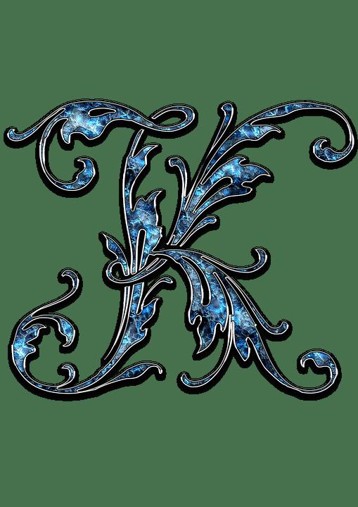 Free Illustration Letter Letter K K Initials Font