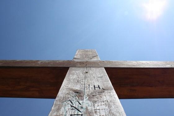 クロス, イエス, キリスト, 空, 信仰, イエス ・ キリスト, 十字架, クロス木製
