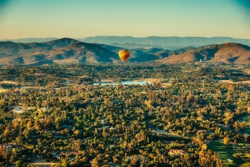New Mexico, Hot Air Balloon, Landscape, Mountains