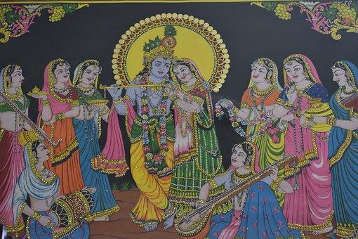 Radha Krishna, Painting, Traditional