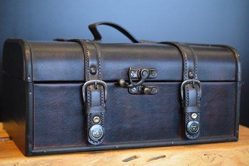 Luggage, Leather, Leather Suitcase
