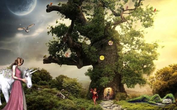 ファンタジー, ユニコーン, プリンセス, エルフ, 想像力, おとぎ話, 神話上の生き物, マジック