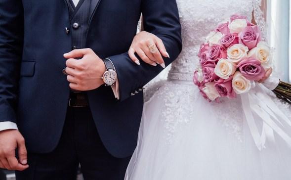 人, カップル, 男, 女性, 女の子, 男性, 花嫁, 新郎, 結婚式, ガウン, ドレス, スーツ