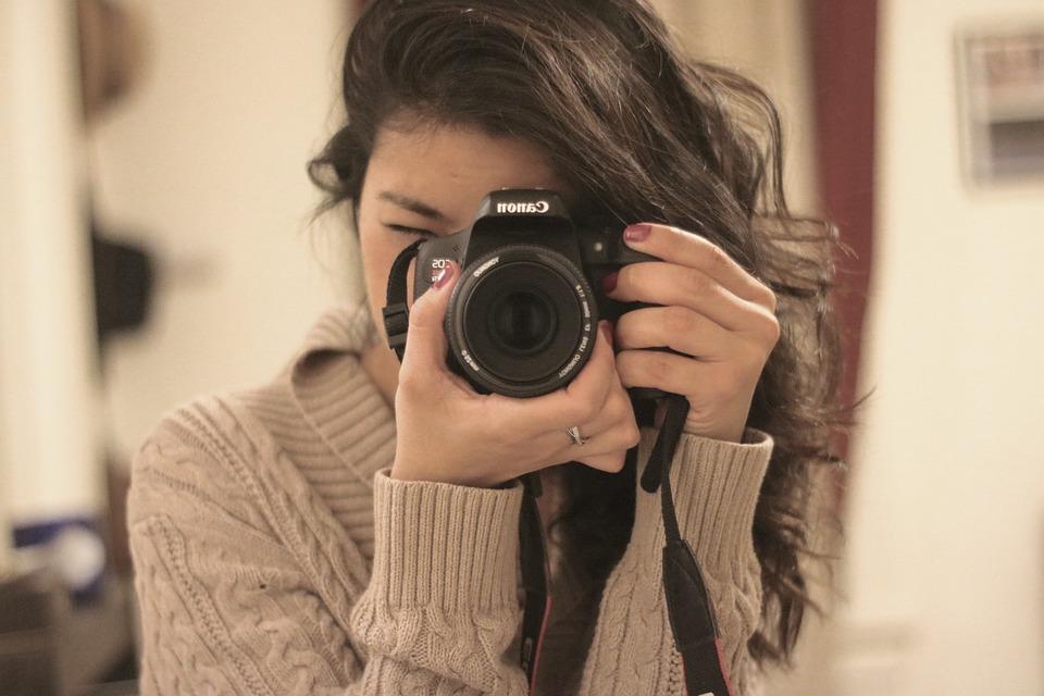 Camera, Lens, Photographer, Photography, Hands, Girl
