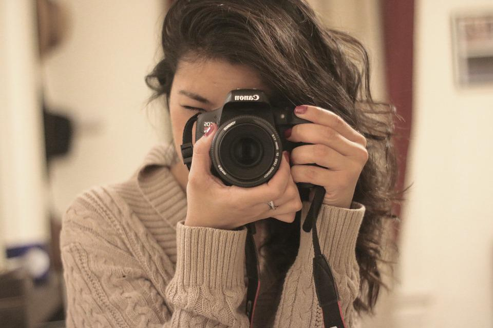 Camera, Lens, Photographer, Photography, Hands, Girl