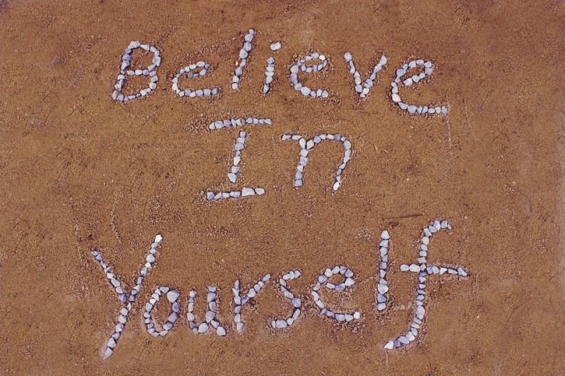 自分自身を信じて, 砂, 石