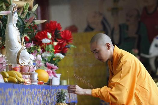 Incenso, Rispettosamente, Monks, Han Pass, Buddismo