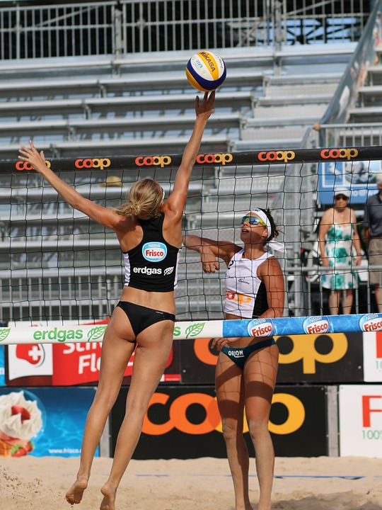 Beach Volleyball, Sport, Web, Ball, Players, Sand