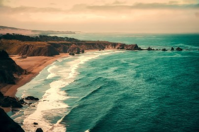 California, Sea, Ocean, Pacific, Waves, Seashore, Beach