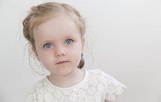 Toddler, Niño, Chica, Ojos Azules