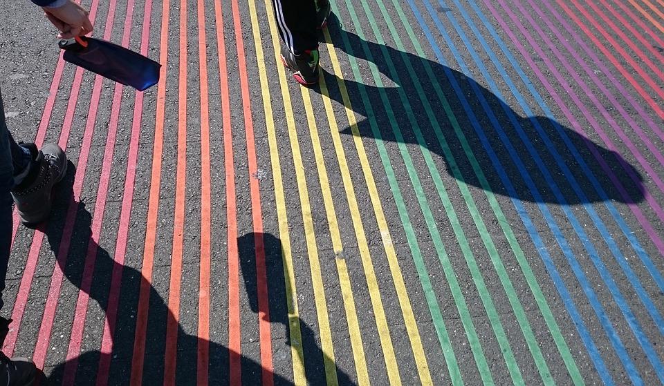 San Francisco, Castro, Colorful, Crosswalk