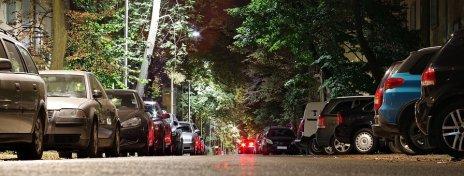 Street, Parking, Cars, City, Night