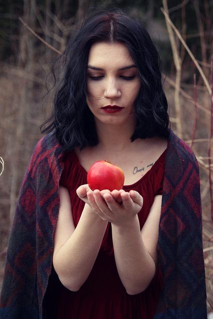 Apple Girl Wild Free Photo On Pixabay