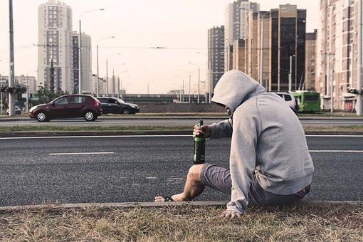 外, 道路, ストリート, スペース, 環境, 夏, ビール, アルコール