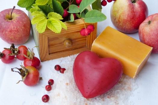 Sapone, Cuore, Rosso, Arancione, Frutta, Autunno