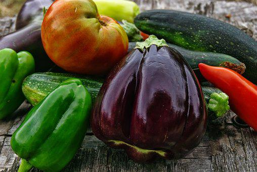 野菜, 有機野菜, 電源, バイオ, 収穫, 家庭菜園, 庭, トマト, ナス