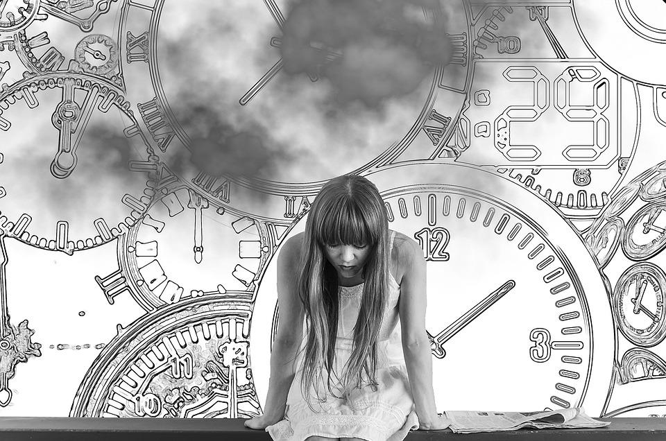 Girl, Time, Time Pressure, Worried