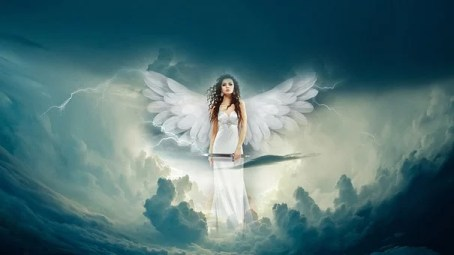 Angel, Clouds, Fantasy, Heaven, Sky
