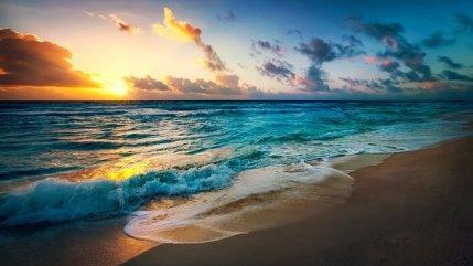 Beach, Sun, Evening, Summer, Sea