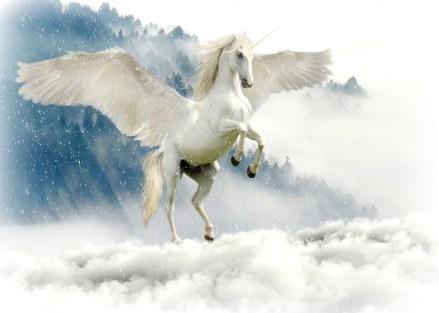 ユニコーン, 神話上の生き物, おとぎ話, 神秘的な, 馬, 翼, 神話上の動物, ホーン, 白