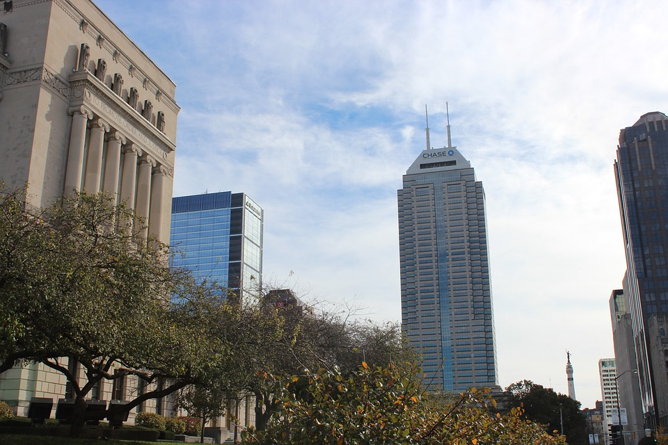 Indianapolis, Downtown, Library, Chase, Tower
