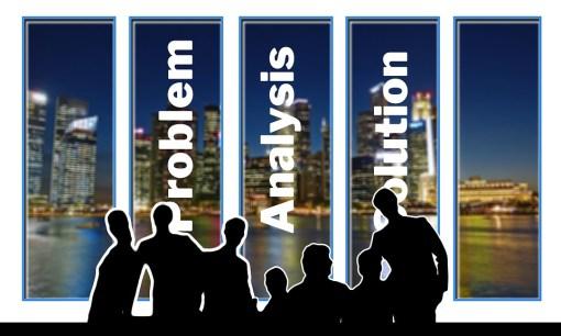 会議, 問題, 分析, ソリューション, ビジネスマン, チーム, グループ, 協力, 個人, 女性, 男
