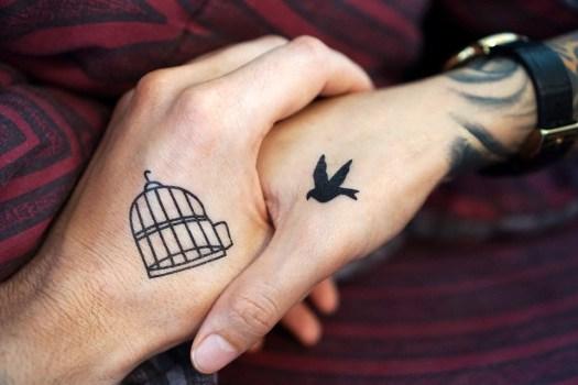 Tatuaggio, Mano, Braccia, Coppia, Amore A Vicenda
