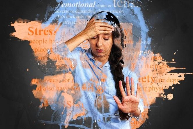 Estresse, ansiedade, depressão, infeliz, preocupado, problema