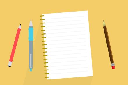 Scrivania, Note, Taccuino, Album, Scrivere, Penna