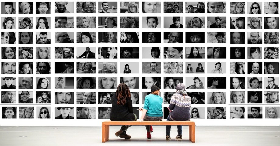 Human, Observer, Exhibition, Photomontage, Faces