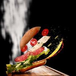 Sandwich, Food, Flying Food, Snack