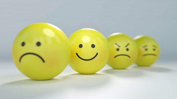笑脸, 图释, 愤怒, 焦虑, 情感, Emojis, 球, 平静, 字符