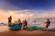 Fishermen, Fishing, Sea, Asia, Vietnam