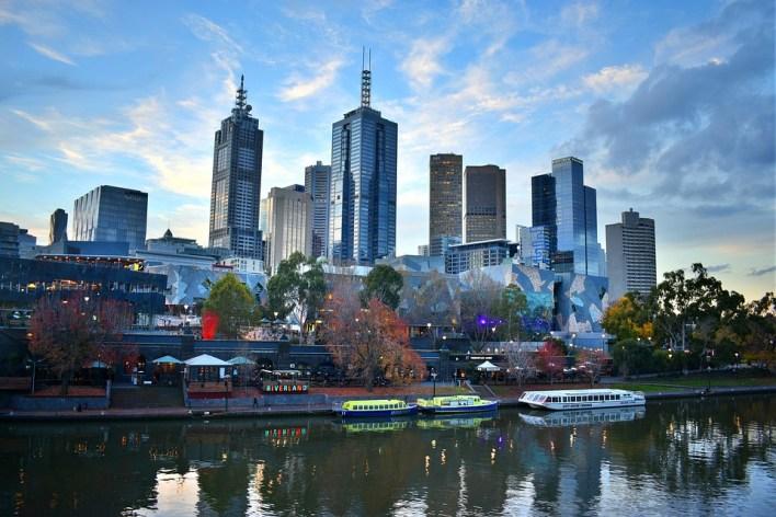 Melbourne, Cidade, Linha Do Horizonte, Austrália