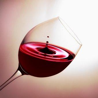 Verre, Vin, Goutte, Vin Rouge, Boire