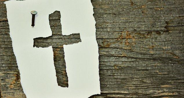 Cross, Nail, Symbol, Wood, Old, Woods