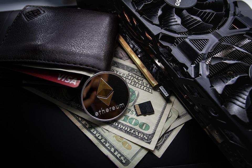 Leather, Wallet, Business, Cards, Visa, Gold