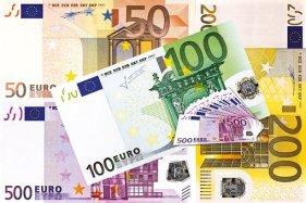 Kredit, Euro, Finanzierung, Puzzle und raus aus dem Minus.