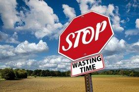 Stop, Time, Waste, Ad, Saying, Set